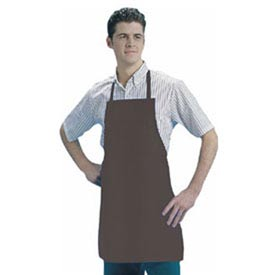 Bib Apron, 25X28, Naugahyde Leather Look, Brown by