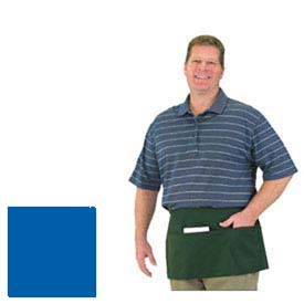 Front Of The House Waist Apron, 12X24, 3 Comp Pocket, Royal Blue