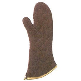 "San Jamar 817TM-BR Oven Mitt, 17"", With Steam Barrier, Protects To 500° Brown by"