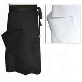 Chef Bistro Apron, 30X30, Waist, 4 Way, White