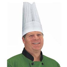 """Crewware Chr12-V - Disposable Chef's Hat, Flair Style, 12"""" Tall, White"""