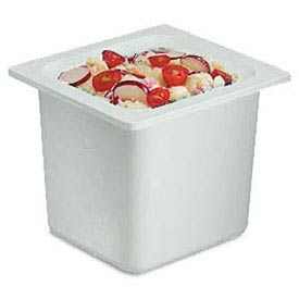 """Chill It™ Food Pan, 1/6 Size, 6"""" Deep, White"""