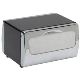 Tabletop Napkin Dispenser, Two Sided, Mini Fold, Stainless Steel With Chrome Finish by