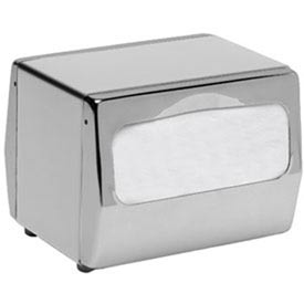 Tabletop Napkin Dispenser, Two Sided, Fullfold, S/S W/Chrome Finish by