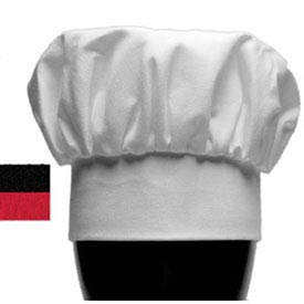"San Jamar H400BK Chef's Hat, 13"" Tall, Adjustable Touch Fastener ® Brand Closure, Black"