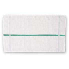"Chef Revival HTI15GS Bar Towel, 15"" x 25, Oversized, Extra Long, White W/Green Stripe... by"