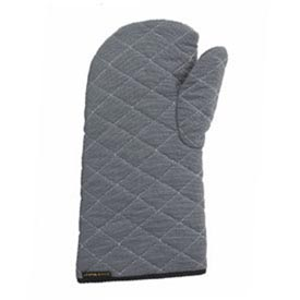 "Oven Mitt, Protects To 500° 17"" Long, Elbow Length, Grey by"