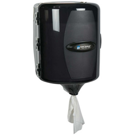 San Jamar Adjustable Touchfree Centerpull Towel Dispenser, Classic Black Pearl T410TBK by