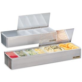 "Non-Chilled Garnish Trays, 3 1/2""h x 18""w x 5 3/4""d, 6 pts"