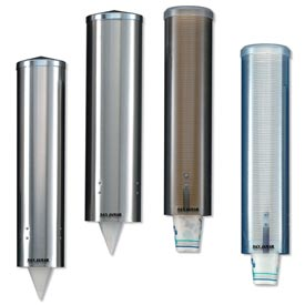 San Jamar C3250SS Water Cup Dispenser, Stainless Steel, Large, Pull-Type  by