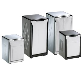 Table-Top Napkin Dispensers, 7-1/2 h x 3-3/4 w x 4 d, Chrome by