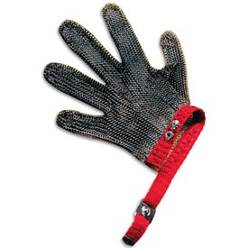 5 Finger, Stainless Mesh Cut Resistant Glove, Medium by