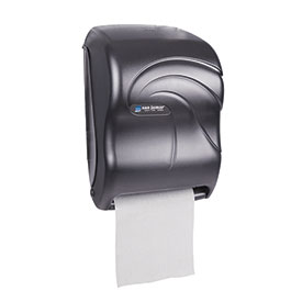 San Jamar® Oceans® Tear-N-Dry Towel Dispenser - Black - T1390TBK