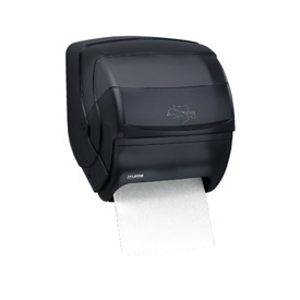 San Jamar® Integra™ Lever Roll Towel Dispenser - Black - T850TBK