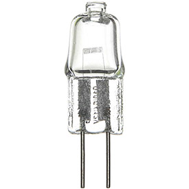 Sunlite 03260-SU Q20/CL/G4/24V 20W Single Ended T2.5 Halogen Bulb, Bi-Pin Base, Clear - Pkg Qty 12