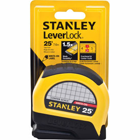 "Stanley Leverlock STHT30758L Center Read Tape Rule 1"" X 25"
