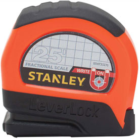 """Stanley Leverlock STHT33270 Fractional Tape Rule 1"""" X 25' W/ Magnetic Tip Tape Measure by"""