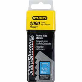 """Stanley TRA705T Heavy-Duty Narrow Crown Staples 5/16"""", 1000 Pack Package..."""