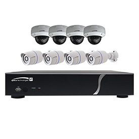 Buy Speco ZIPT8BD2 8-Channel HD-TVI DVR and 4 Bullet Cameras + 4 Dome Cameras Kit, 2TB