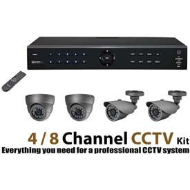 Buy COP Security DVR Recorder Kit, DVR04V2DK-1, 4 Channel, With 1 TB Hard Drive
