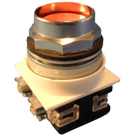 Springer Controls N7PNEA10, 30 mm Recessed Push Button, 1 Normally Open, Momentary, Amber