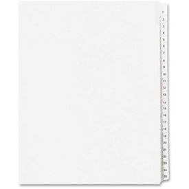 "Avery Side Tab Collated Legal Index Divider, A to Z, 8.5""x11"", 26 Tabs, White/White by"