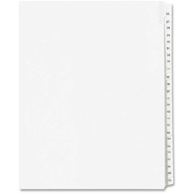 "Avery Side Tab Collated Legal Index Divider, 26 to 50, 8.5""x11"", 25 Tabs, White/White by"