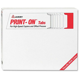 "Buy Avery 3-Hole Punched Copier Tabs, Blank, 8.5""x11"", 5 Tabs, 30 Sets, White/White"