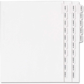 "Avery Legal Exhibit Numeric Index Divider, Printed Exhibit 1 to 25, 8.5""x11"", 1 Tab/25 Sets, White by"
