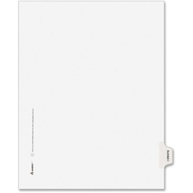 "Avery Legal Exhibit Index Divider, Printed I, 8.5""x11"", 1 Tab/25 Sets, White/White by"