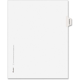 "Avery Legal Exhibit Index Divider, Printed M, 8.5""x11"", 1 Tab/25 Sets, White/White by"