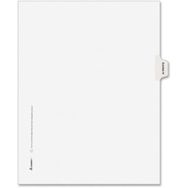"Avery Legal Exhibit Index Divider, Printed N, 8.5""x11"", 1 Tab/25 Sets, White/White by"