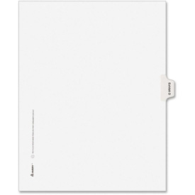 "Avery Legal Exhibit Index Divider, Printed O, 8.5""x11"", 1 Tab/25 Sets, White/White by"