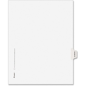 "Avery Legal Exhibit Index Divider, Printed Q, 8.5""x11"", 1 Tab/25 Sets, White/White by"