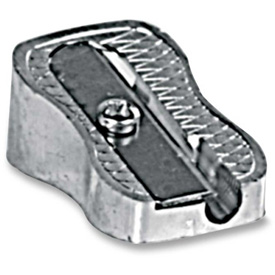 Baumgartens Pencil Sharpener, Single Hole, UPC Coded, Silver by