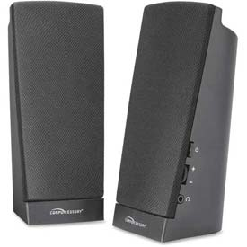 Compucessory 51544 Pre-amplified Flat Panel Speakers, Black