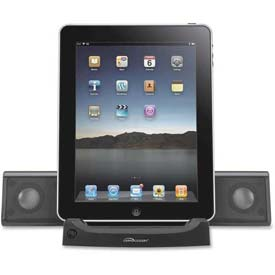 Compucessory Universal Tablet Sound Systems, 51546, 4 Watts RMS, Black
