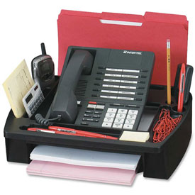 "Buy Compucessory Telephone Stand/Organizer 11-1/2"" x 9-1/2"" x 5"" Black"