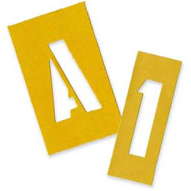 "Chartpak Painting Letters & Numbers Stencil, CHA01555, 2""H, Yellow, Gothic Font, 35/Set"