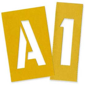 "Chartpak Painting Letters & Numbers Stencil, CHA01565, 4""H, Yellow, Gothic Font, 35/Set"