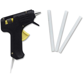 Chenille Kraft Company Glue Gun, Trigger Style, Includes 3 Glue Sticks, Assorted