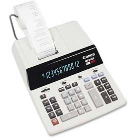 "Canon 12-Digit Calculator, MP21DX, 2 Color Printing, Sales Tax Key, 9-1/8"" X 12"" X 3"", White by"