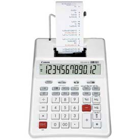 """Canon 12-Digit Palm Calculator, P23DHVG, 2 Color Printing, 6-3/8"""" X 8-1/2"""" X 2-1/4"""", White by"""