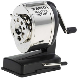 "Elmer's® Mount Pencil Sharpener, 5-1/2""x3-4/5"", 5-3/10"", CE Recep., Black Base"