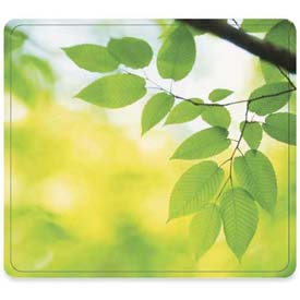 "Fellowes® Mouse Pad, 5903801, Nonslip Back, 9"" X 8"" X 11/16"", Leaves"