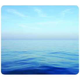 Fellowes® 5903901 Recycled Mouse Pad with Non-Slip Back, Blue Ocean