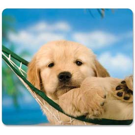 Fellowes® 5913901 Recycled Optical Mouse Pad with Non-Skid Base, Puppy in Hammock