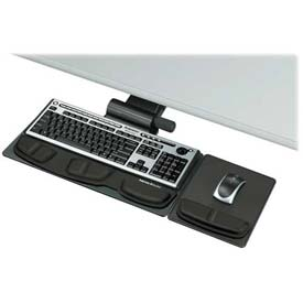 "Fellowes® 8036001 Professional Series Premier Keyboard Tray, 21-3/4"" Track Length, Black"
