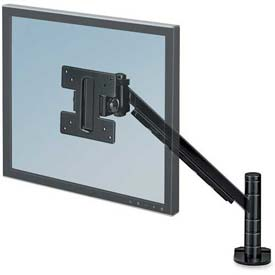 "Fellowes® Flat Panel Monitor Arm, 8038201, Height Adjust., 4-3/4"" X 14-1/2"" X 24"", Black"