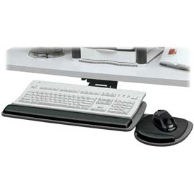 "Fellowes® 93841 Standard Keyboard Tray, 17-1/4"" to 17-3/4"" Track Length, Black"